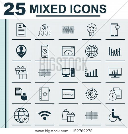 Set Of 25 Universal Editable Icons For Seo, Computer Hardware And Human Resources Topics. Includes I