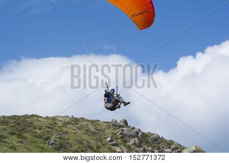 Random Flying Male Paraglider, The Bluff, Victor Harbor, Sa
