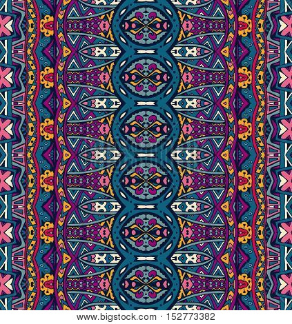 ethnic tribal festive pattern for fabric. Abstract geometric colorful seamless pattern ornamental. Mexican design
