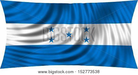 Honduran national official flag. Republic of Honduras patriotic symbol banner element background. Correct colors. Flag of Honduras waving isolated on white 3d illustration