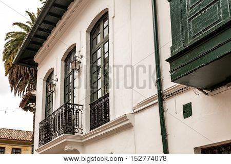 Colonial houses in La Candelaria, Bogota, Colombia