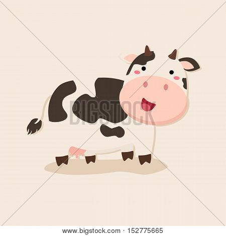 Cute Cow standing Camouflage on similar background vector illustration