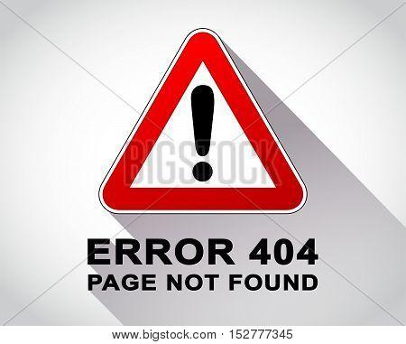 Illustration of warning sign for error message