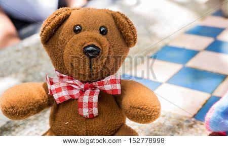 Teddy Bear with blur back ground. . .
