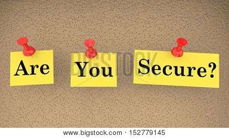Are You Secure Safe Question Security Risk 3d Illustration