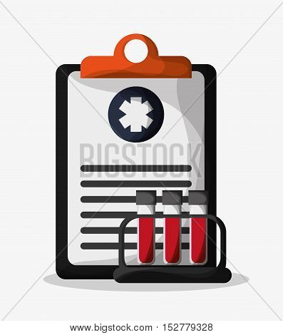 History document icon. Medical and health care theme. Colorful design. Vector illustration