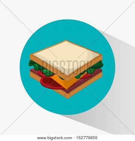 Sandwich icon. Fast food menu and market theme. Colorful design. Vector illustration