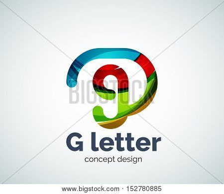 G letter logo icon. Business geometric abstract element
