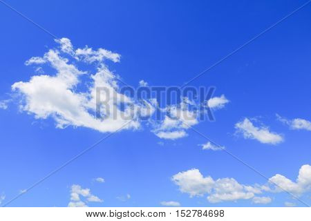 blue sky background with cloud in nature beautiful