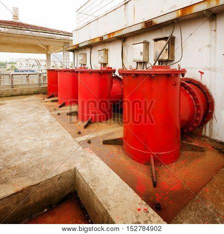 Modern urban sewage treatment plants in the equipment.