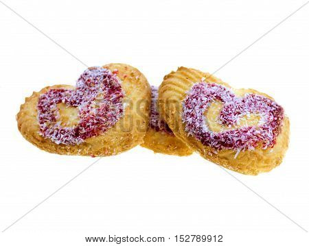 Shortbread biscuits isolated on a white background
