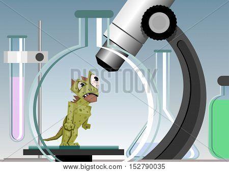 Microbe - Vector illustration - EPS .