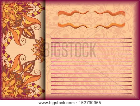 Pattern vector floral for holiday wedding design parties corporate events. template A5. Easy to edit brochures magazines posters presentations portfolio flyer banner website brochure.