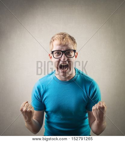 Shouting man
