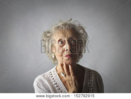 Grandma is thinking