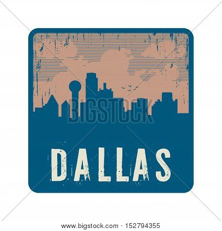 Grunge vintage stamp with text Dallas vector illustration