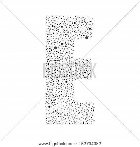 Letter logotype vector design. Excellent illustration, EPS 10. Modern numbers circle bubble grey symbol icon.