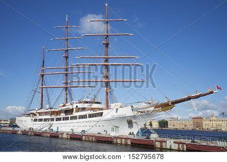 SAINT PETERSBURG, RUSSIA - JULY 25, 2015: Sailing ship