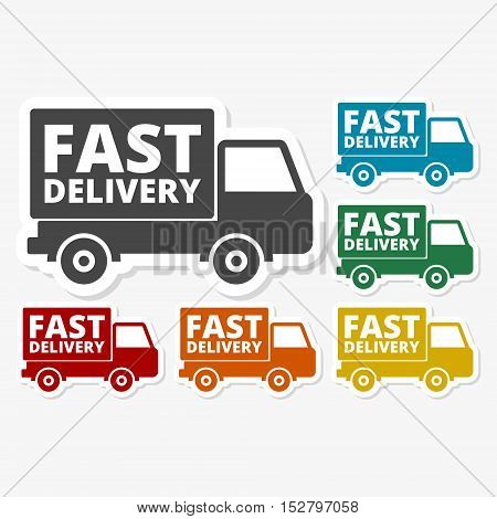 Multicolored paper stickers - Fast Delivery service