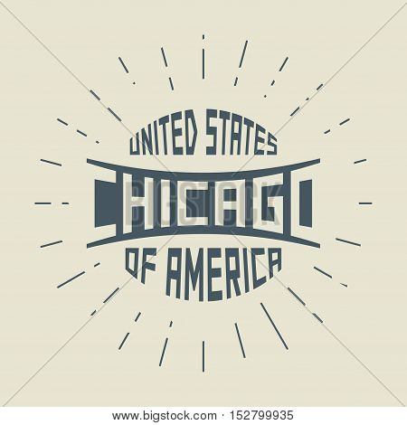 Grunge vintage round stamp with text Chicago Illinois vector illustration