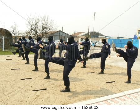 Masked Gendarmes Training