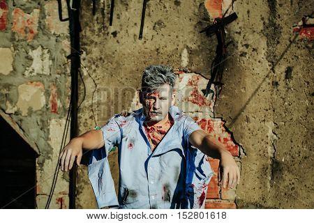 Handsome Halloween Zombie Man