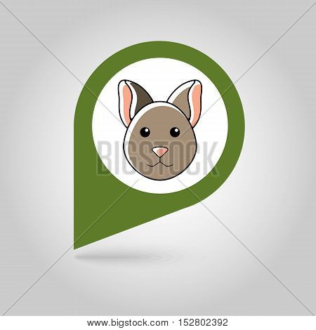 Cat flat pin map icon. Map pointer. Map markers. Animal head vector illustration eps 10