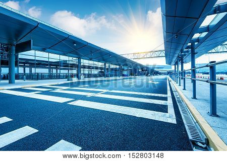 Carriageways of the  large International Airport