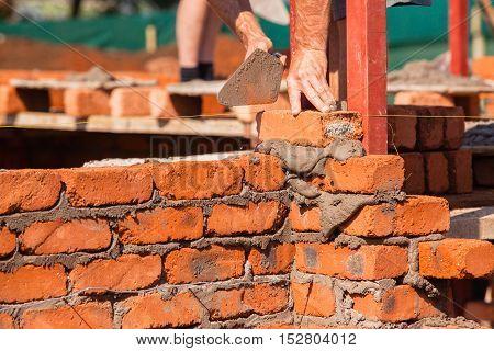 Building Artisan Brick Skroll Closeup