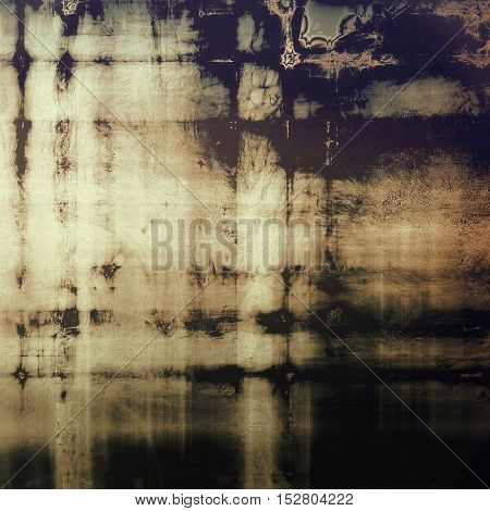 Retro vintage style background or faded texture with different color patterns: yellow (beige); brown; gray; black; white