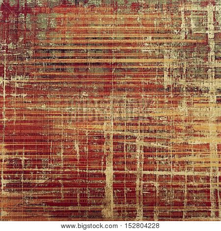 Abstract vintage background with grunge effects, ragged elements, and different color patterns: yellow (beige); brown; gray; red (orange); purple (violet); pink