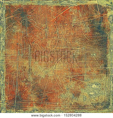 Vintage torn texture or stylish grunge background with ancient design elements and different color patterns: yellow (beige); brown; gray; green; red (orange)