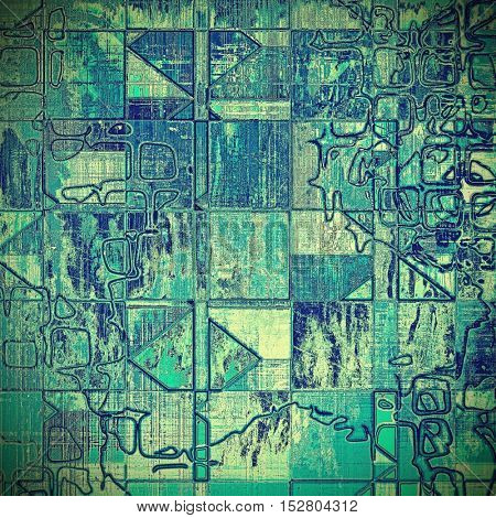 Geometric art vintage texture, decorative grungy background. With different color patterns: gray; blue; white; cyan