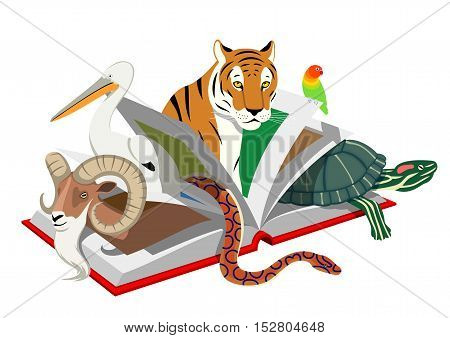 Red List of Threatened Species - Vector illustration - EPS .