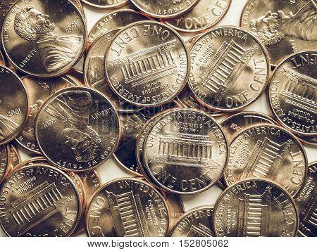 Vintage Dollar Coins Background