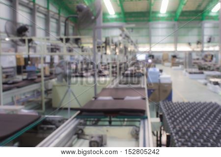 conveyor line Assembly TV. blur picture. technology