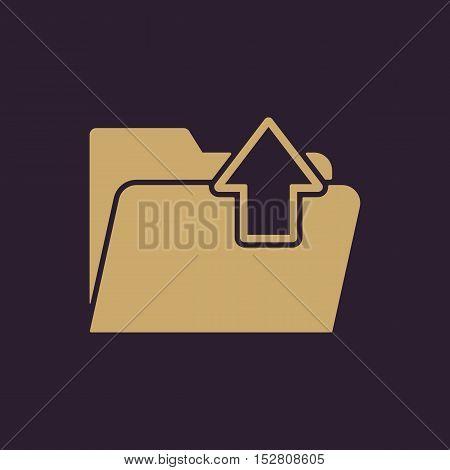 The folder icon. Download symbol. Flat Vector illustration