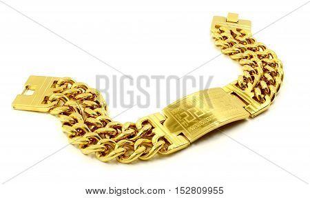 Gold Bracelet For Men - Stainless Steel