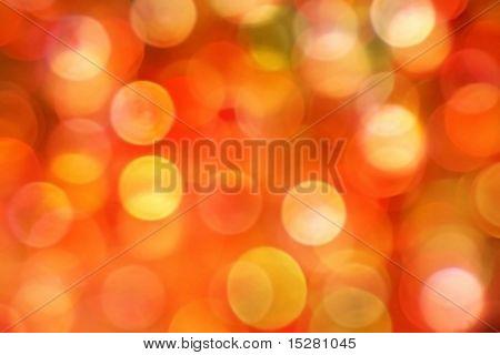 Colorful Christmas lights.
