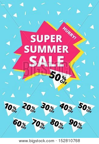 Super Summer Sale Banner