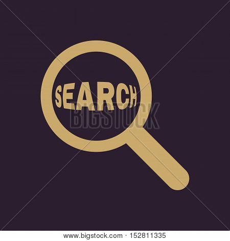 Search icon. Magnifier symbol. Flat Vector illustration