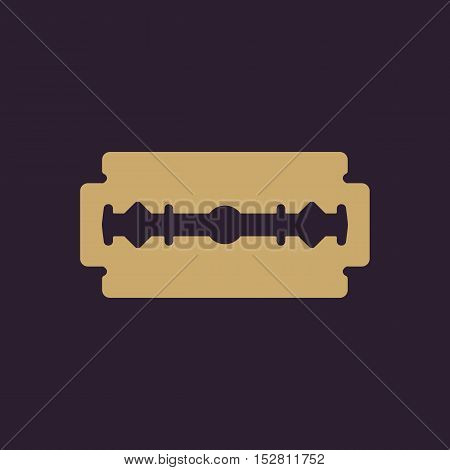 The blade razor icon. Shaver symbol. Flat Vector illustration
