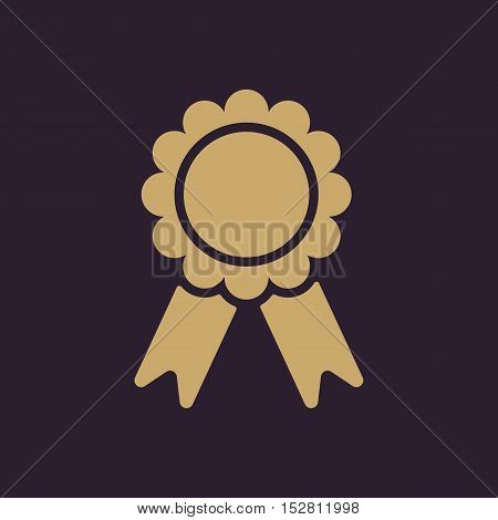 The award icon. Achievement symbol. Flat Vector illustration