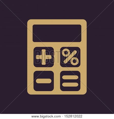 The calculator icon. Accounting symbol. Flat Vector illustration