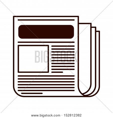 Newspaper published media document icon. vector illustration