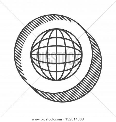 planet earth icon. network sphere isolated icon vector illustration design
