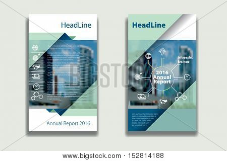 turquoise annual report Leaflet Brochure Flyer template design, book cover layout design, Abstract presentation templates, flyer infographics template, vector background