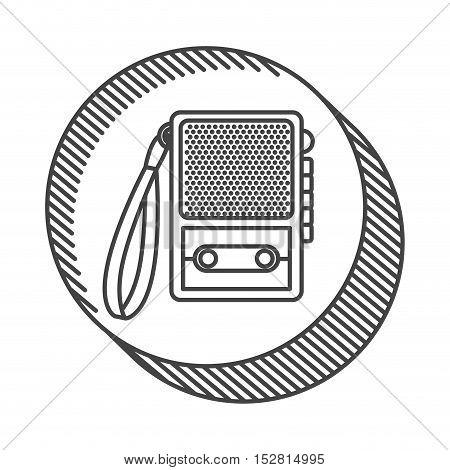 retro recorder device icon. broadcast and media design. vector illustration