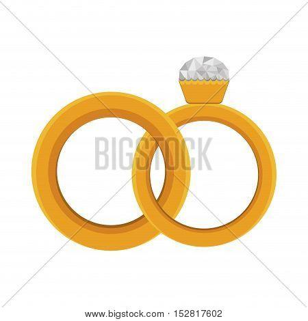 diamond ring luxury jewelry accessory. vector illustration