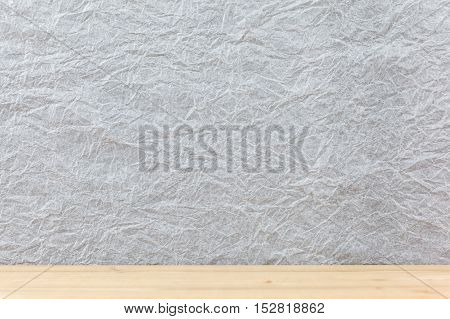 White wall with crease as a design